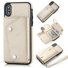 Luxury Flip Buckle Leather Card Wallet Case Cover For iPhone XS Max XR 7 8 Plus