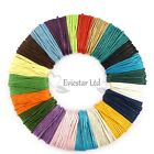 1mm Waxed Cotton Cord Jewellery Stringing Shamballa - Various Colours