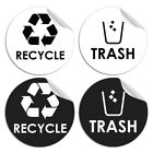 1/4PC Recycle Sticker Organize Trash Garbage Containers Eco-Friendly Home Decor