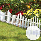 4 White Plastic Wooden Effect Lawn Border Edge Garden Edging Picket Fencing Set <br/> Free &amp; Fast Delivery ! 4 x (L 60 x H 32 cm) ! UK STOCK