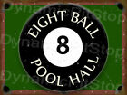 8 Ball Pool Hall Tin Sign or Decal, Man Cave, Snooker, Room, Table, Accessories $17.4 USD on eBay