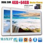 "10.1"" inch Tablet PC 4G 64G Android 6.0 Dual SIM Phone Wifi Phablet Lot EA"