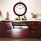 Wine Red Clock Classic 12 Atomic Radio Controlled Wall Clock BGW612-YG ER
