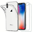 Apple iPhone XS / XS Max Clear Case 2 Tempered Glass Screen Protectors NEW