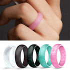 5.7mm Men Women Fashion Silicone Rings Allergy Free Sports Rings Size 4-10