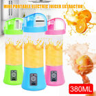 Portable 380ml Juicer 2 Blades USB Cup Fruit Milk Mixing Rechargeable Bottle New