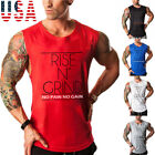 Men Muscle Sleeveless Tank Top Gym T Shirt Sport Fitness Vest Workout GYM Tee US