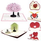 Cute Love 3D Pop-Up Greeting Cards for Valentines Anniversary Wedding for Her
