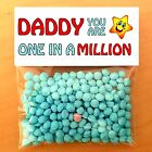 FATHERS DAY GIFTS One In A Million Personalised DADDY DAD MUM, THANK YOU CARDS