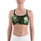 Skull Camo Sports Bra - Womens Workout Activewear