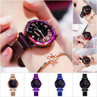 Magnetic Stainless Ladies Watch Starry Sky Diamond Dial Women's Bracelet Watches image