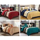 DCP 7Pcs Bedding Set Comforter Sets Bed in a Bag- Queen King Cal.King Embroidery image