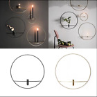 3D Geometric Candlestick Metal Wall Candle Holder Sconce Modern Nordic Style