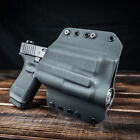 OWB Kydex Light Bearing Holster for guns with RMR-Optic & INFORCE APL - Black