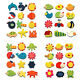 12Pcs Cartoon Animal Educational Toys Fridge Magnet Kids Toy DIY Decor Random