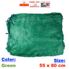100  55x80cm GREEN NET SACK BAGS MESH FRUITS VEGETABLES WOOD CARROT ONION POTATO
