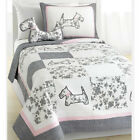 Scottie Pup Reversible 100%Cotton Quilt Set, Bedspread, Coverlet image