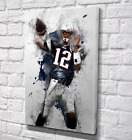 Tom Brady New England Patriots NFL Football Canvas Artwork Ready To Hang Stretch on eBay