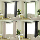 2 Panels Thermal Insulated Blackout Window Curtains Heavy Thick Grommet Drapes
