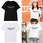 New Funny T-shirts Women Men Short Sleeve Tops Tee Black White Polyester