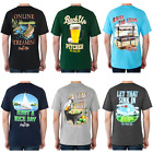 Funny Men's Vacation T-Shirts CHOOSE Baseball Golf Fishing BBQ Boating Poker