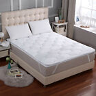 "Luxury 3D Air Mattress Topper Quilted Pad Ventilated Air Flow Elastic Bands 18"" image"
