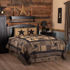 BLACK CHECK STAR QUILT SET & ACCESSORIES. CHOOSE SIZE & ACCESSORIES. VHC BRANDS image