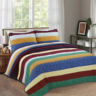 Benhurst Striped 100%Cotton 3-Piece Quilt Set, Bedspread, Coverlet image