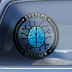 Systems Designer Brain Decal - logical physical architectural designing sticker
