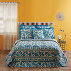 BRIAR AZURE BLUE QUILT SET & ACCESSORIES. CHOOSE SIZE & ACCESSORIES. VHC BRANDS image