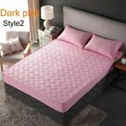 Thicken Cotton Bed Covers Mattress Protector Breathable Bedspread Non-Slip Mat image