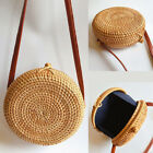 Women Summer Round Straw Shoulder Bags Rattan Bag HandWoven Beach Crossbody