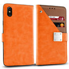 Apple iPhone X & XS, Synthetic Leather Premium Flip Case w/ Strap & 5 Card Slots