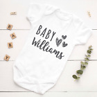 Personalised baby grow vest boys girls name funny bodysuit baby shower gift <br/> 2 in 3 orders upgraded to NEXT DAY DELIVERY for free!