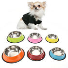 6Colors StainlessSteel dog bowls pet food water feeder for cat puppy dog feeder