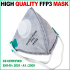 FFP3 Mask Dust Face Masks Fold Flat Valved Asbestos Respirator Disposable