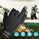 US Anti-Slip 3 Cut Finger Waterproof Fishing Gloves Outdoor UV Protection Gloves