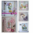 Clear DIY Crafts Transparent Stamp Scrapbooking Lovely Girl Silicone Rubber
