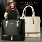 Women Leather Handbag Purse Shoulder Zipper Satchel Crossbody Bag Messenger Tote image