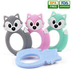 Kyпить Baby Teether Kid Food Grade Silicone Pacifier Soft Teething Chew Fox Shape Toy на еВаy.соm