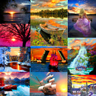 Внешний вид - DIY Sunset Paint By Number Kit Digital Acrylic Oil Painting Art Wall Home Decor