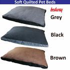 Super Soft Quilted Dog Bed Washable Non Slip Pet Cushion - Keeps Your Pet Warm