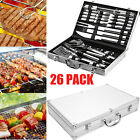 26 in 1 Electric Barbecue Grill Plate Table Griddle BBQ Tools Sticks Clean Brush