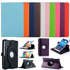 360 Rotating Flip Stand Leather Folio Tablet Case Cover For Apple iPad/Samsung