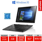 "Lenovo Miix 310- 10.1"" Cheap Tablet with Keyboard Intel Atom, 2GB RAM, 32GB eMMC"