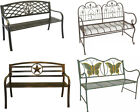 Metal Folding Garden Bench Kids Park Bench - Cast Iron Bench for Yard or Garden