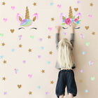 Lovely Unicorn Stars Room Decoration Wall Art Stickers Vinyl Home Decal Decor Bo