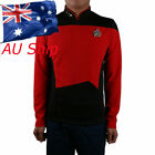 Star Trek Shirt Starfleet Command Uniform Cosplay Star Trek TNG Red Uniform New on eBay