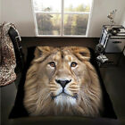 Animal Throw Faux Fur Double King Size 3D Print Blanket Sofa Bed Large Fleece
