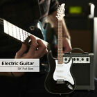 Electric Guitar Beginner Full Size w/ Guitar Case,AMP,Accessories Multi-Color